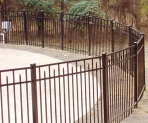 Curved Aluminum Fence Enclosure
