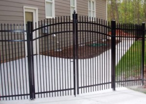 Aluminum Fence Gate Installation in Raleigh